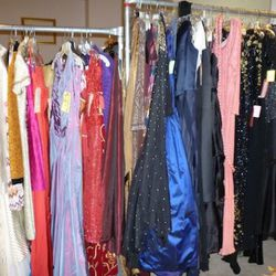 Within the prom dress area, there are vintage finds...