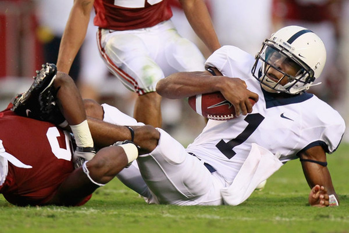 Penn State's freshman QB Robert Bolden wasn't as impressive against Alabama as he was against Youngstown State.