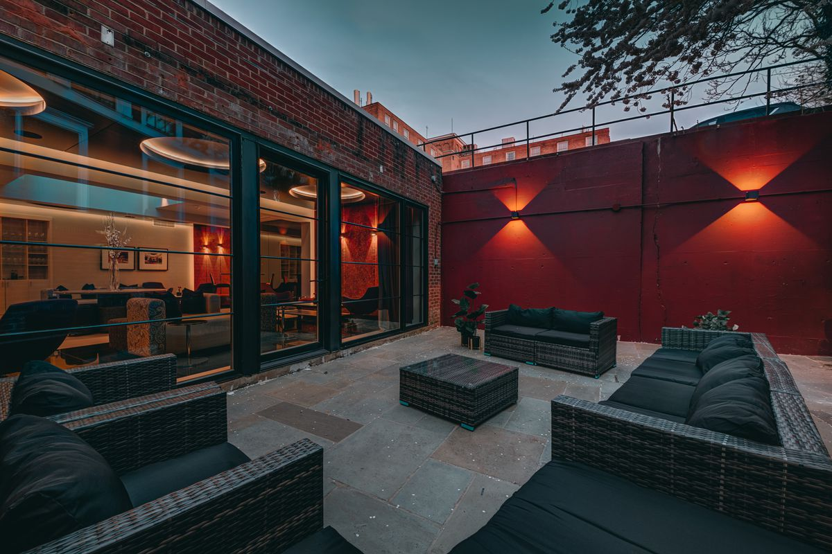 The patio at Donahue is expected to open later this spring