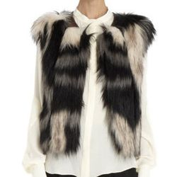 """<strong>Twelfth Street by Cynthia Vincent</strong> Faux Fur Vest, <a href=""""http://www.barneys.com/on/demandware.store/Sites-BNY-Site/default/Search-Show?q=Twelfth+Street+By+Cynthia+Vincent+Faux+Fur+vest"""">$325</a> at Barneys New York"""