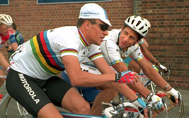 Lance Armstrong and Greg LeMond