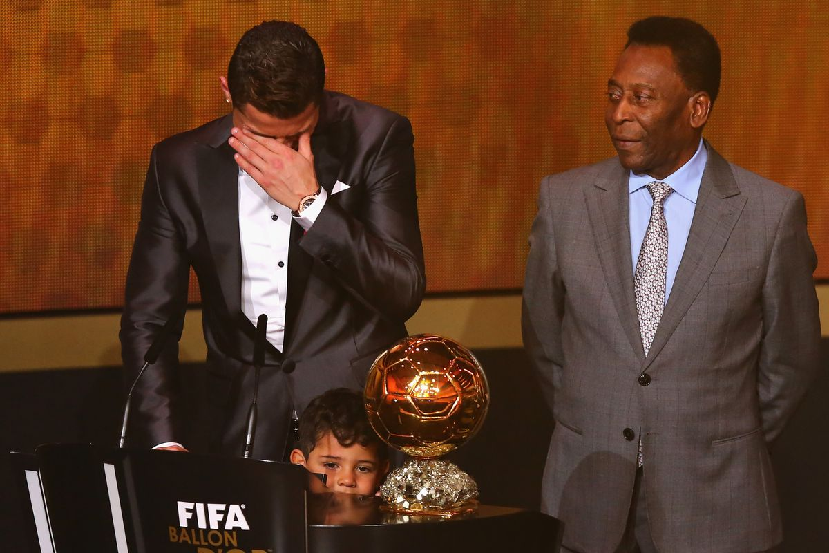 Pele's jealous because Cristiano's tears were more emotional.