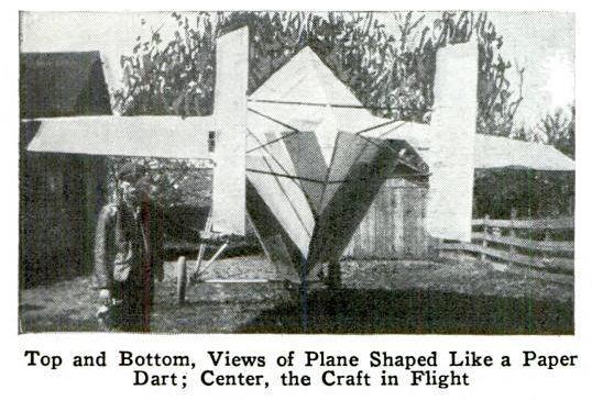 A plane that looked like a paper dart. (Popular Mechanics)
