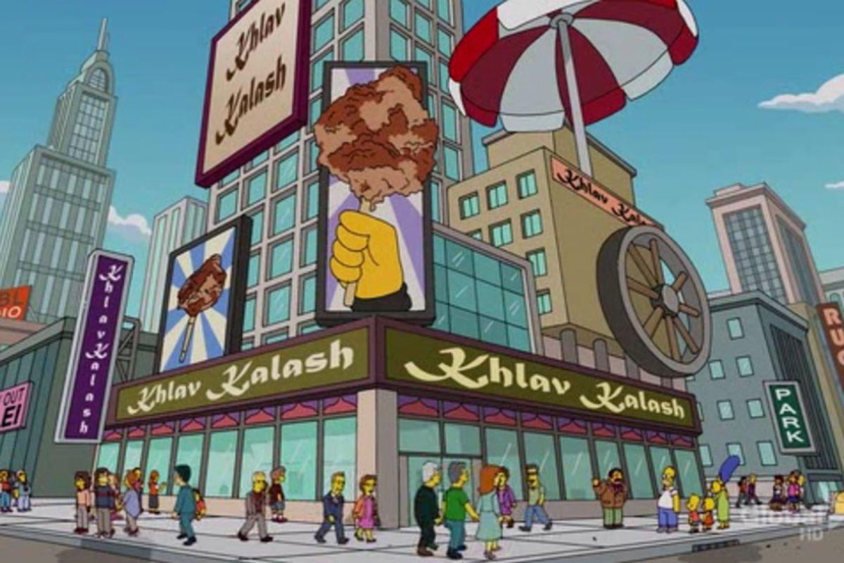 On The Simpsons The Khlav Kalash Vendor Makes It Big Eater