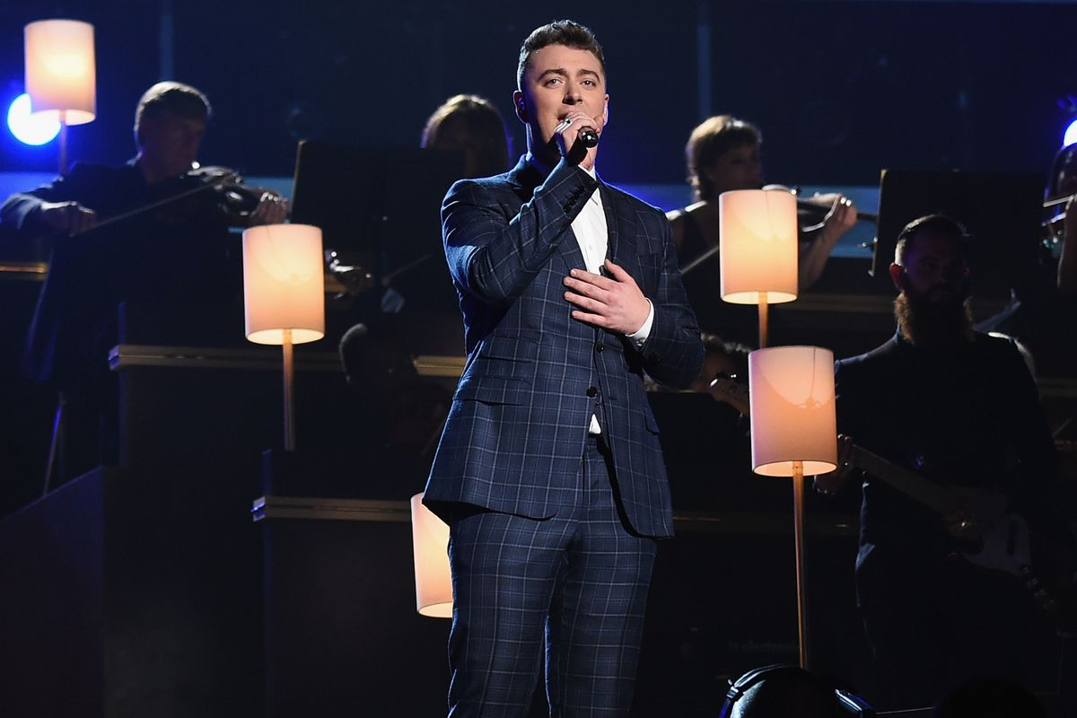 Sam Smith performs at the 2015 Grammy Awards.