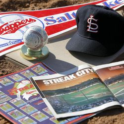 Among the reminders of the 1987 Trappers season is the Sports Illustrated article, trading cards and autographed ball.Among the reminders of the 1987 Trappers season is the Sports Illustrated article, trading cards and autographed ball.