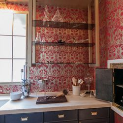 """The formal butler's pantry in the house was transformed into a chocolatier's lab, complete with edibles we did not have permission to munch on (for shame!).  It was designed by Stephanie Marsh Fillbrandt of <a href=""""http://www.marshandclark.com/"""">Marsh an"""