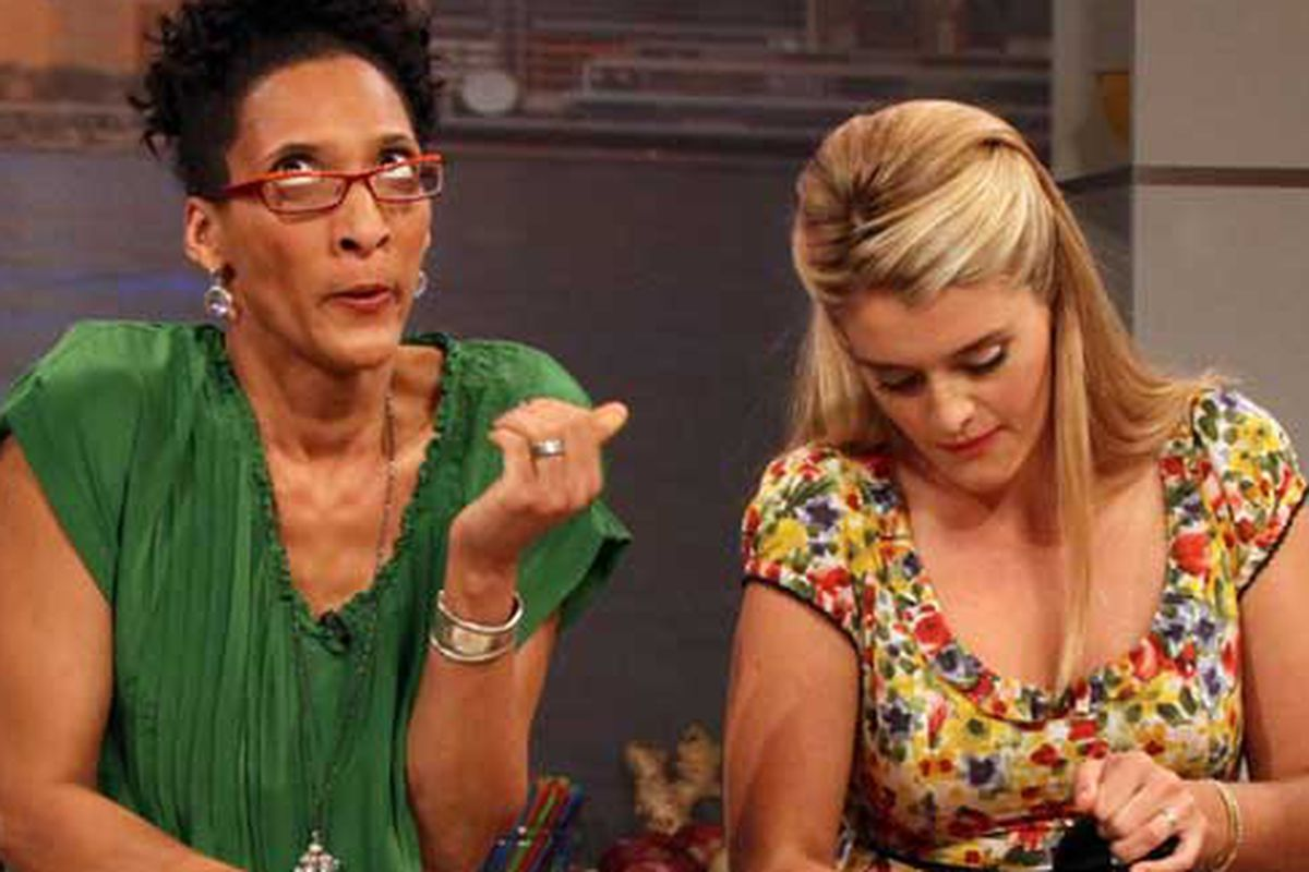 Carla Hall and Daphne Oz on The Chew