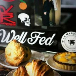 """Good coffee is a must for every touring musician, and the tiny bakery <a href=""""http://badwolfcoffee.com/"""">Bad Wolf Coffee </a>[3422 North Lincoln Avenue] also has the best caneles—custard-filled pastries with a caramelize crust—that I've ever had. The men"""