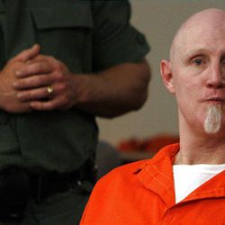 Ronnie Lee Gardner appears April 23 at the Matheson Courthouse to have his execution date set. He is scheduled to be put to death by firing squad just after midnight Friday.