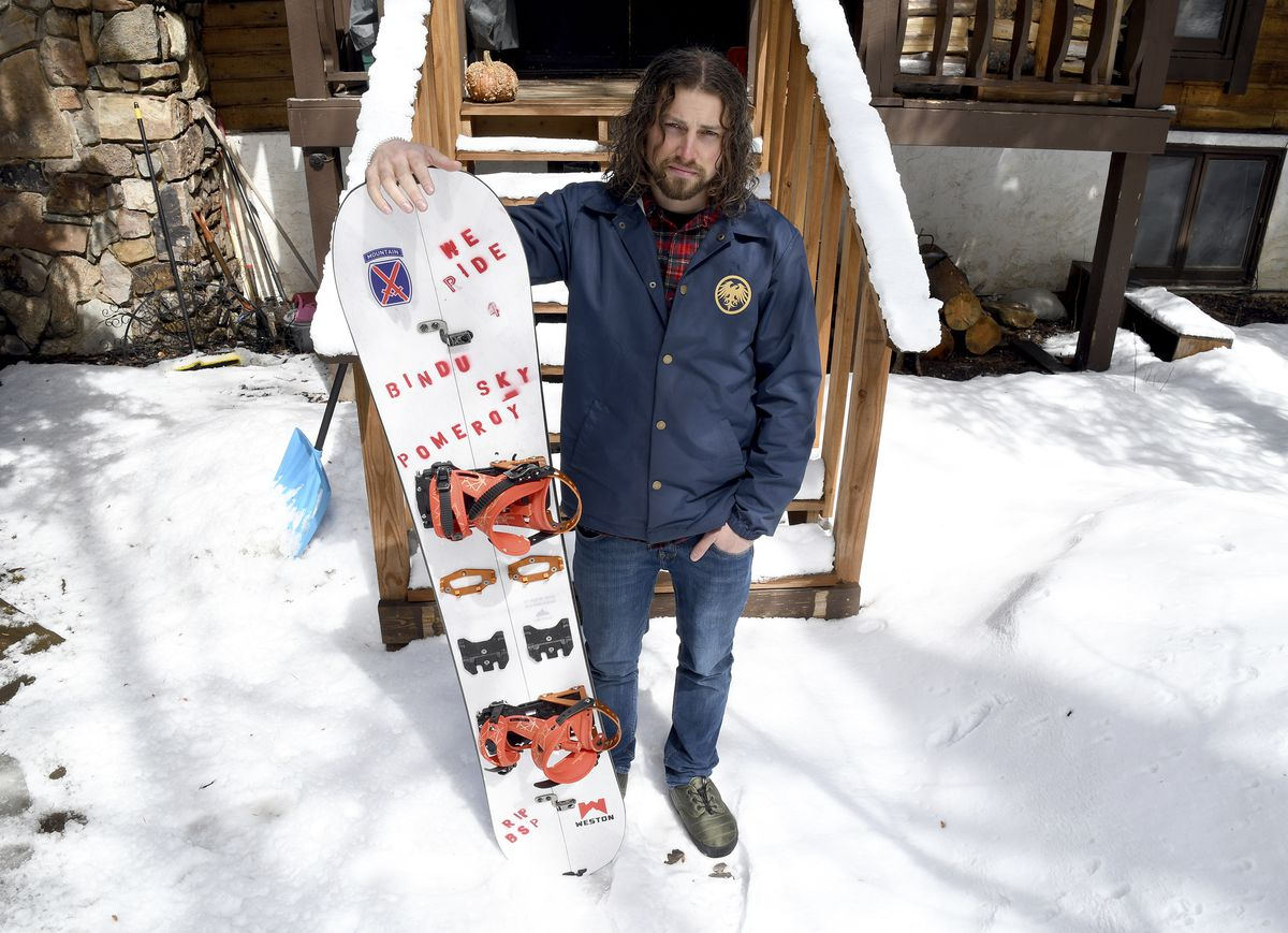 Evan Hannibal outside his home in Vail, Colo. Prosecutors have dropped their bid for $168,000 in damages from Hannibal and a second snowboarder who triggered a costly avalanche.