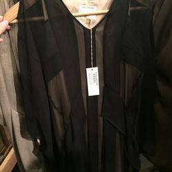 Black chiffon kite dress, $437 (was $875)