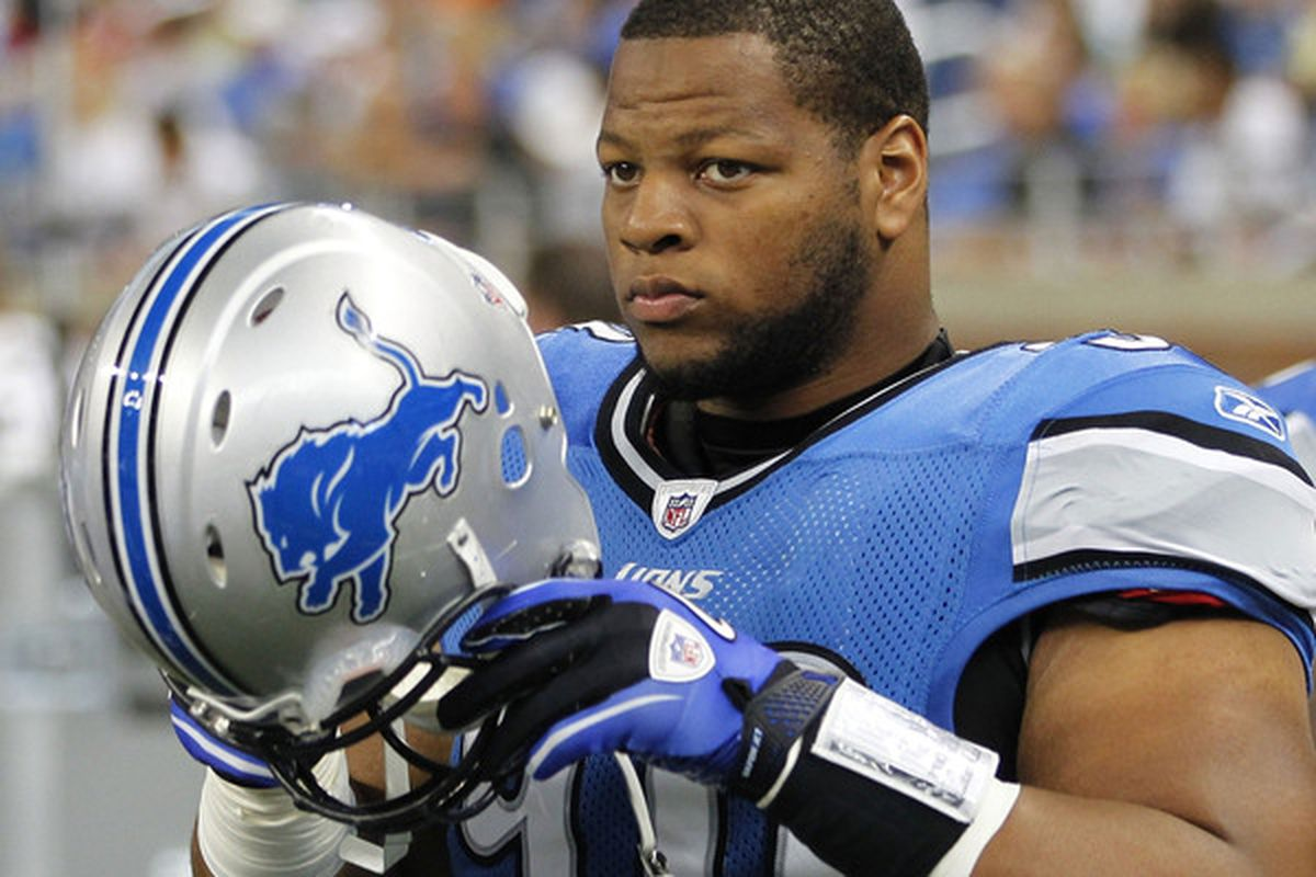 <strong>Ndamukong Suh</strong> of the Detroit Lions.  (Photo by Gregory Shamus/Getty Images)
