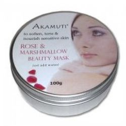 """<a href=""""http://www.puronatur.co.uk/natural-skin-care.php?product=Akamuti:-Rose-and-Marshmallow-Beauty-Mask-100g&id=150"""" rel=""""nofollow"""">Akamuti Rose and Marshmallow Face Mask</a>: £7.95"""