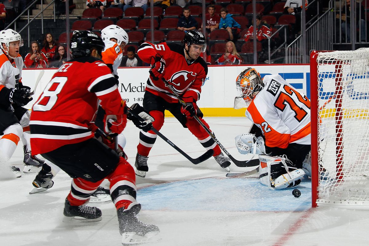Scott Gomez about to score his second power play goal of the night.
