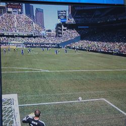 Clint Irwin looks for targets for this first-half goal kick.