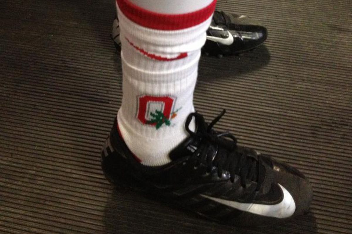 EGW doesn't front on the footwear when it comes to repping Ohio State.