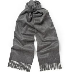 """<a href=""""http://www.mrporter.com/en-us/mens/loro_piana/tasselled-cashmere-scarf/441323"""">Loro Piana cashmere scarf</a>, $450 <br>""""There are times when it's inconvenient to be laden down with bulky layers or a heavy coat. Perhaps you don't want to line up"""