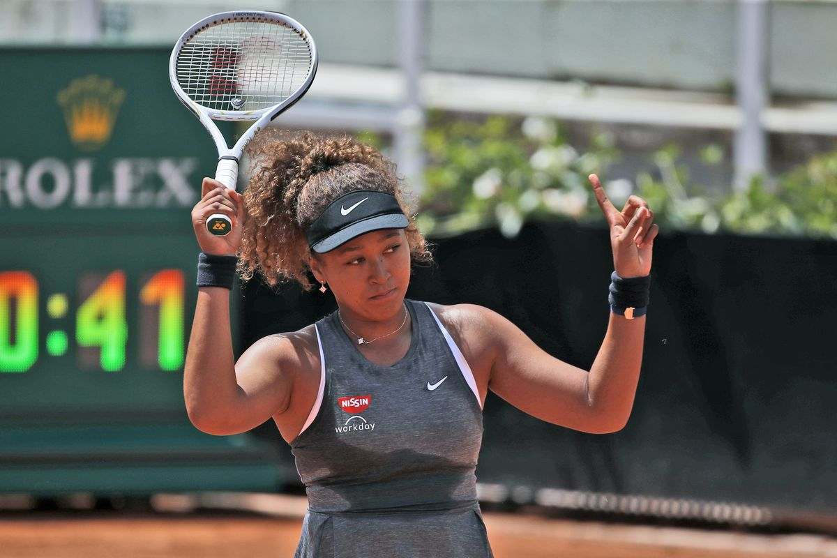 In this May 12, 2021 file photo, Naomi Osaka of Japan reacts after losing a point against Jessica Pegula of the United States during their match at the Italian Open tennis tournament, in Rome. Osaka's declaration that she won't participate in news conferences during the French Open is a natural topic for discussion on tournament media day in Paris. Other players say they understand Osaka's stance and respect her choice.