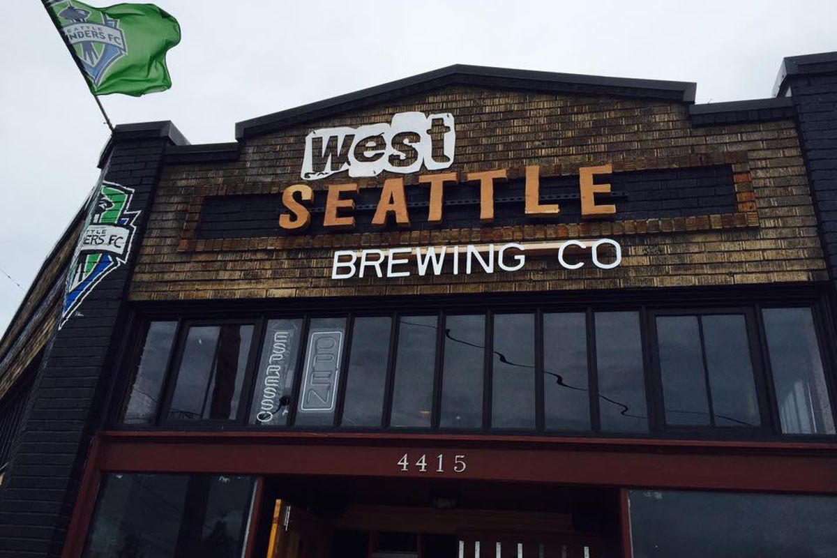 West Seattle Brewing and its brand new sign