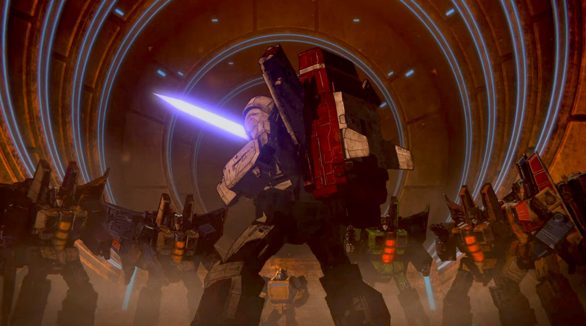 The seekers in Transformers: War for Cybertron - Siege