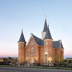 An exterior view of the east side of the Provo City Center Temple.