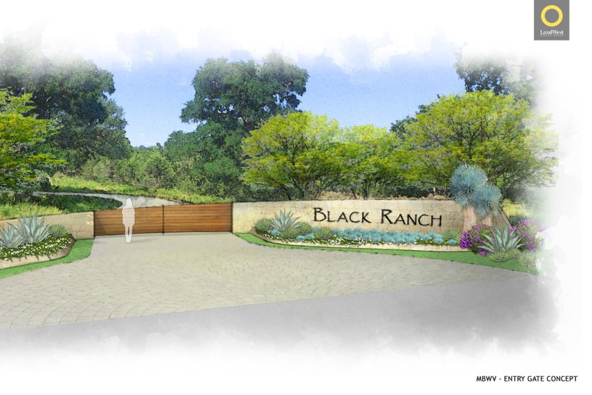 Rendering of the entrance to Black Ranch