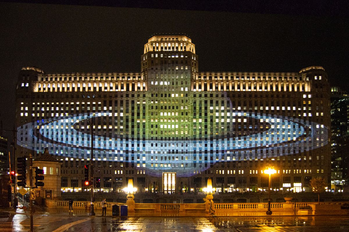 """Art on theMart returns with """"Astrographics"""" from the Adler Planetarium."""