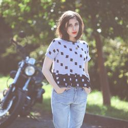 """<b>Trend #3: the new black and white.</b> """"Black and white is definitely trending in new and interesting ways. This is anything but the basic combination."""" Ace & Jig, terrace tee, <a href=""""http://miramirasf.com/products/ace-jig-terrace-tee"""">$175</a>. Phot"""