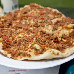 """Lahmacun from Nazar by <a href=""""http://www.flickr.com/photos/nicknamemiket/7793419528/in/pool-eater/"""">nicknamemiket</a>"""