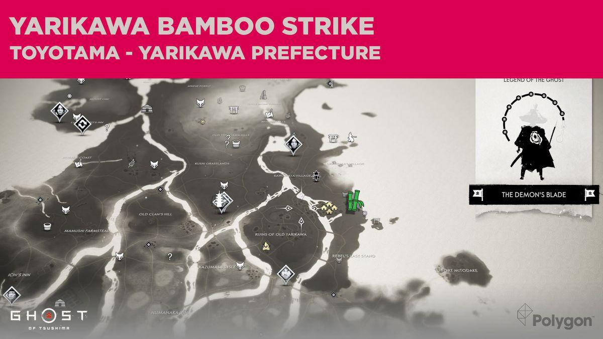 Bamboo Strike location in Yarikawa in Ghost of Tsushima