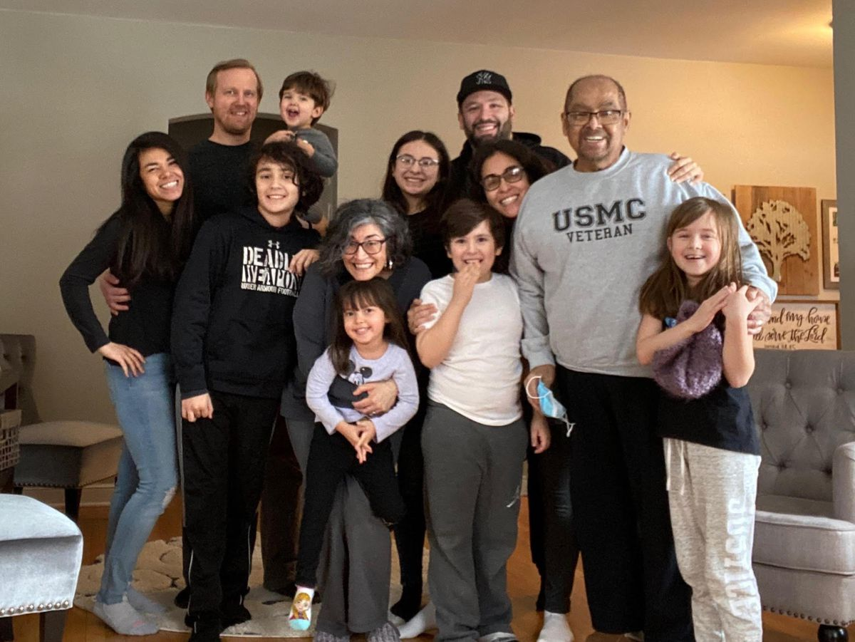 Phillip and Karen Rios with their family.