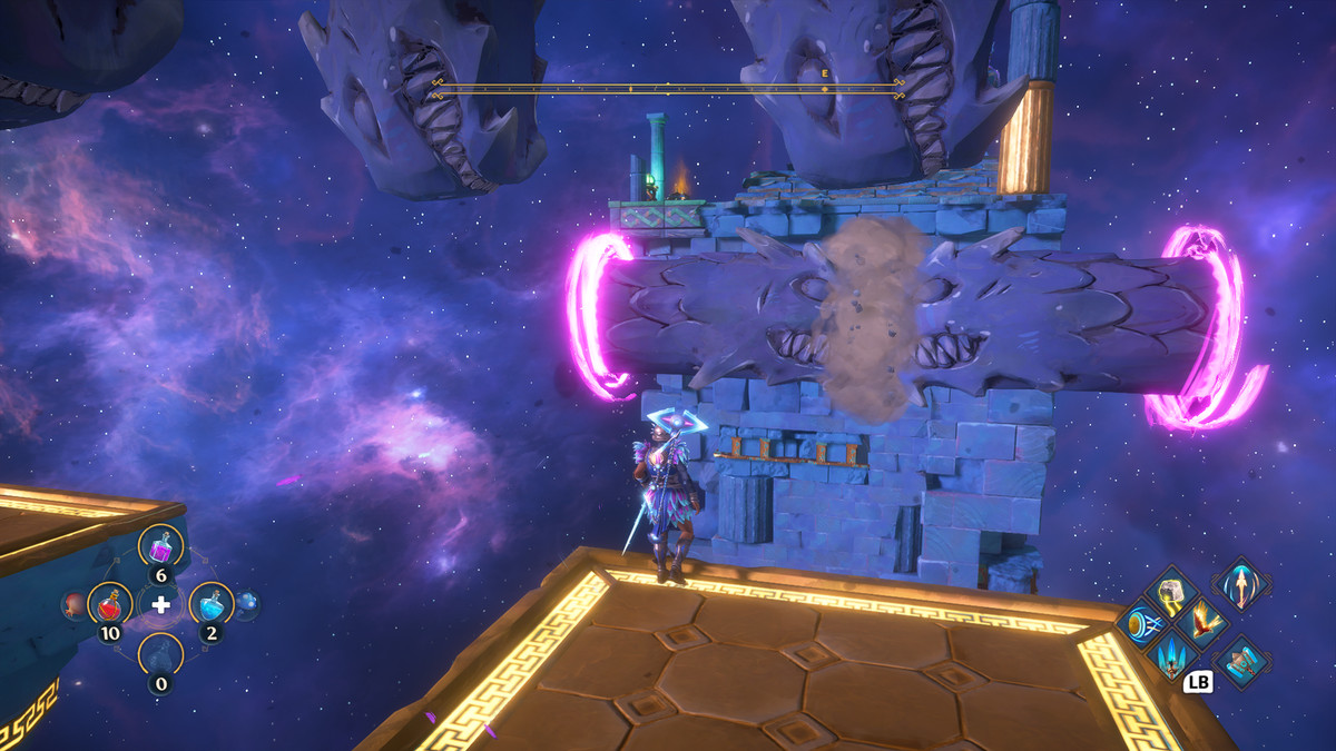 A puzzle solution for the The Hydra's Many Heads Vault of Tartaros in Immortals Fenyx Rising