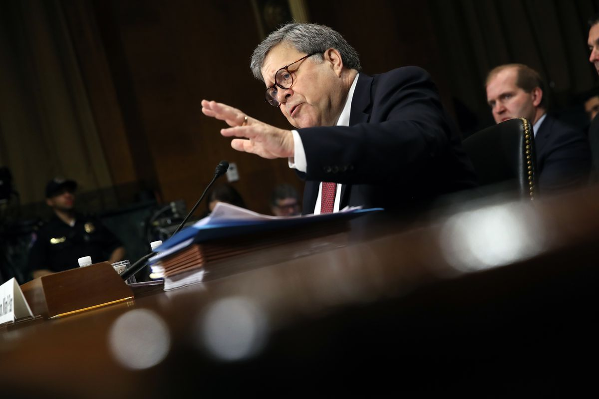 Attorney General Barr Testifies At Senate Hearing On Russian Interference In 2016 Election