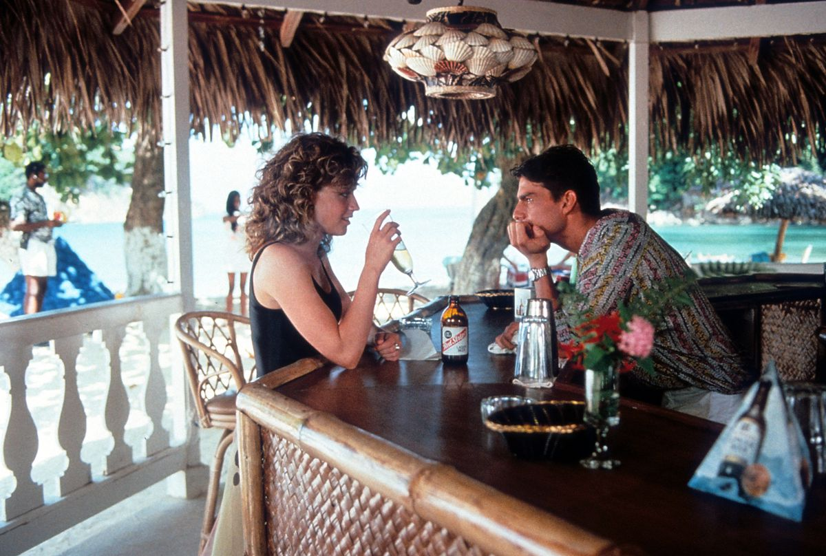 Tom Cruise and Elisabeth Shue in 'Cocktail'