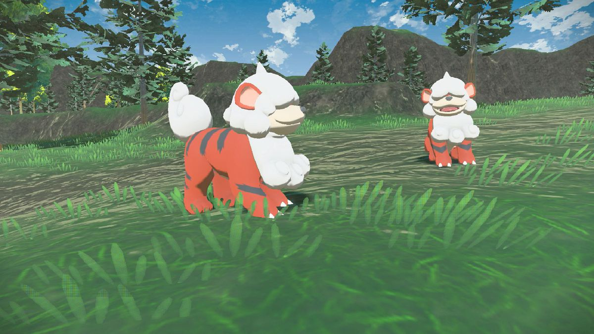 Two Hisuian Growlithe from Pokémon Legends: Arceus
