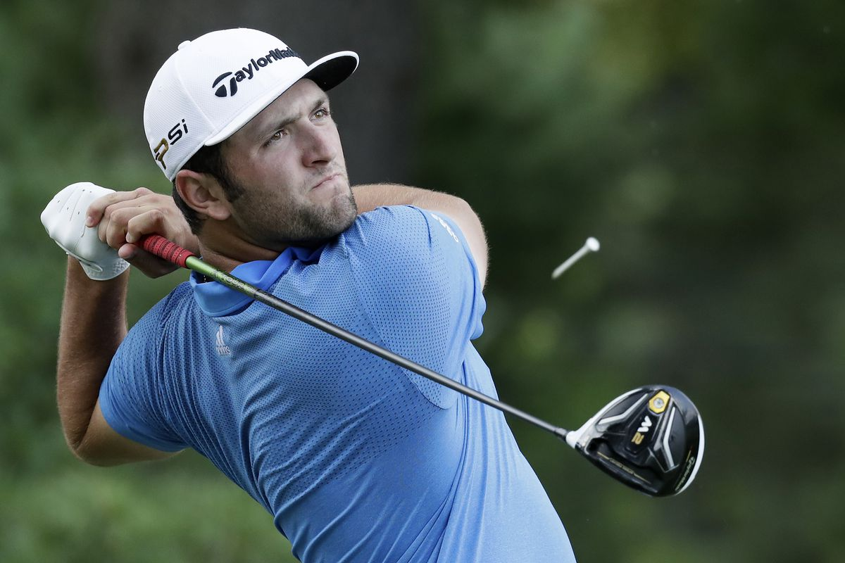 Jon Rahm of Spain plays a shot from the third tee during the second round of the Quicken Loans National at Congressional Country Club on June 24, 2016 in Bethesda, Maryland.