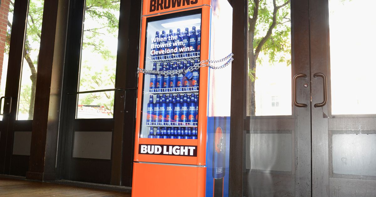 This Cruel Bud Light Smart Fridge Unlocks Only When the Cleveland Browns Win