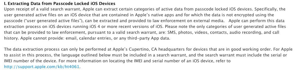 Apple law enforcement