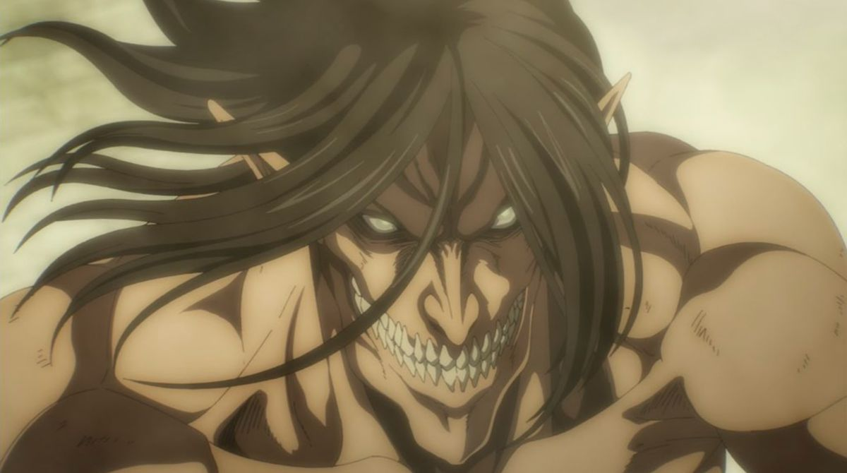 A smiling Eldian on Attack on Titan