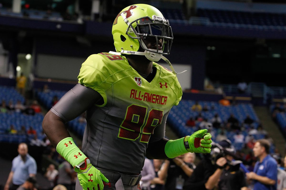 5-star Defensive End Chad Thomas at the Under Armour All-American Game.