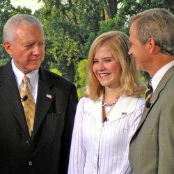 (left to right) Senator Orrin Hatch, Elizabeth Smart, and Ed Smart.