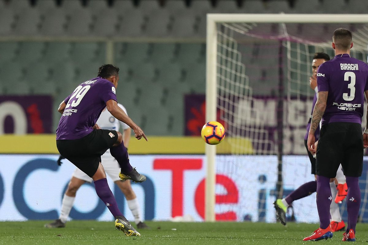 Image result for 3-3 fiorentina inter matias vecino