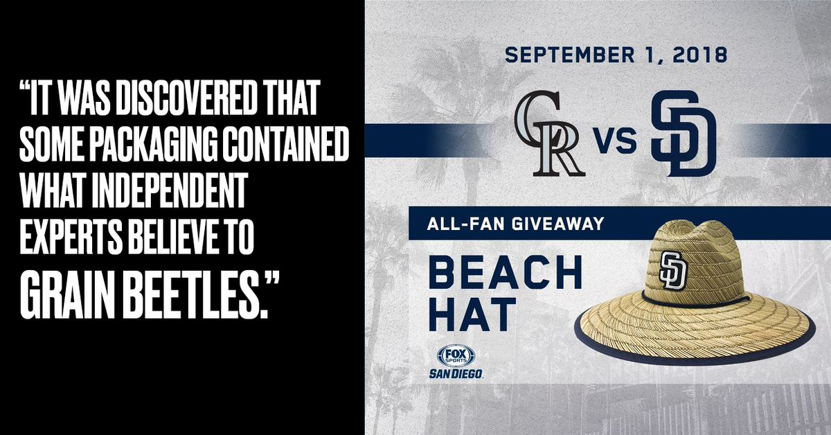 The Padres accidentally gave out bug-infested hats as a promotion -  SBNation.com 327cfe7c5104