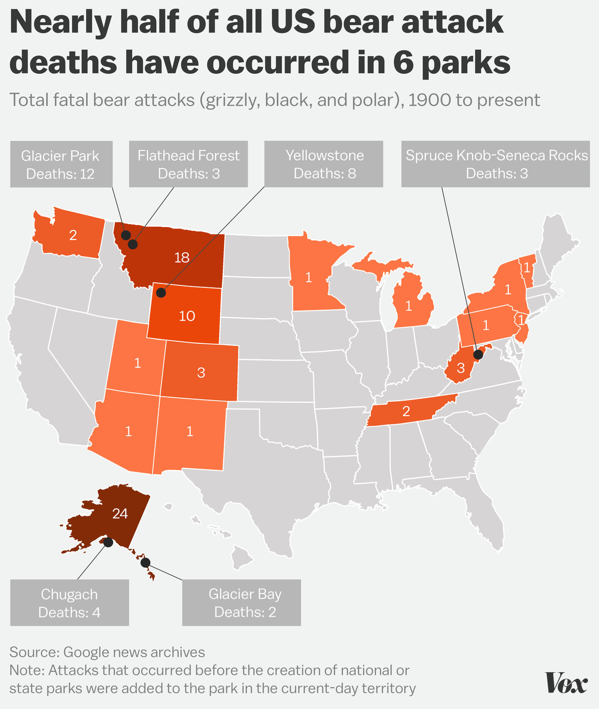 The parks where you're most likely to be killed by a bear - Vox