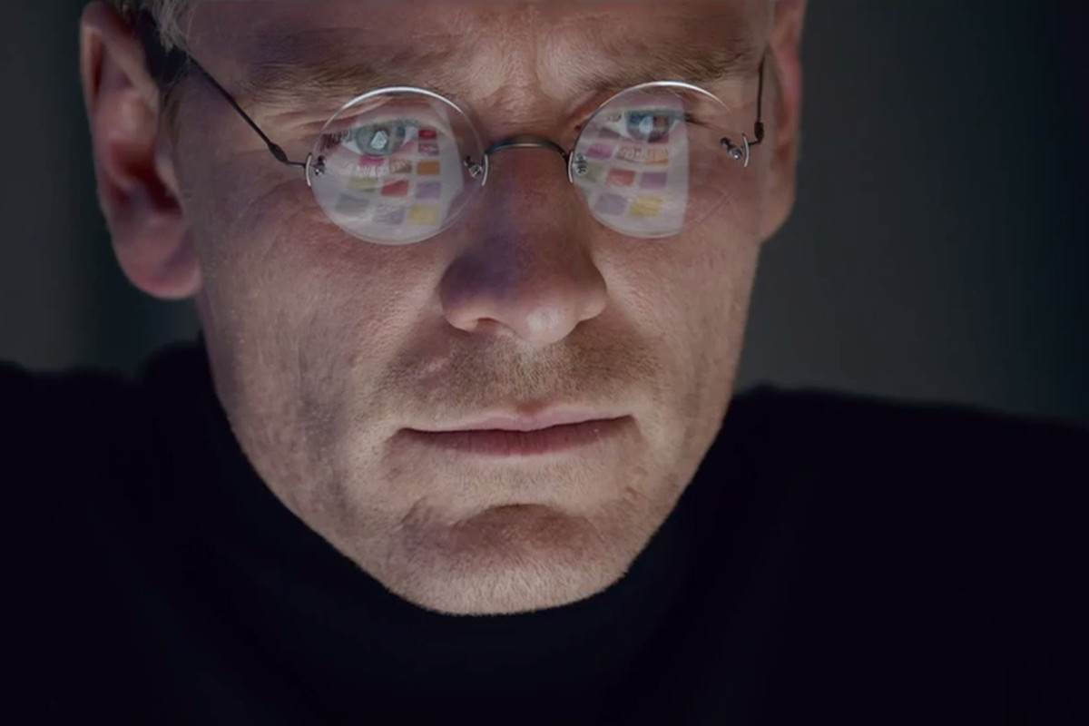 Michael Fassbender plays Steve Jobs in the new film biopic.