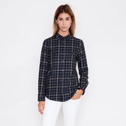 """The flannel shirt: <strong>Second Female</strong> Wood Shirt, <a href=""""https://shopacrimony.com/products/second-female-wood-shirt"""">$118</a> at Acrimony"""
