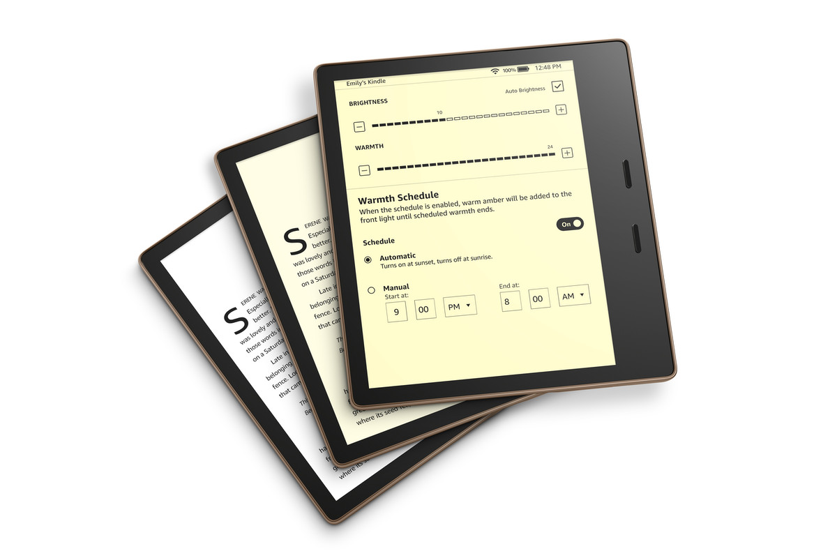 New To You >> The New Kindle Oasis Lets You Adjust Color Temperature For Night