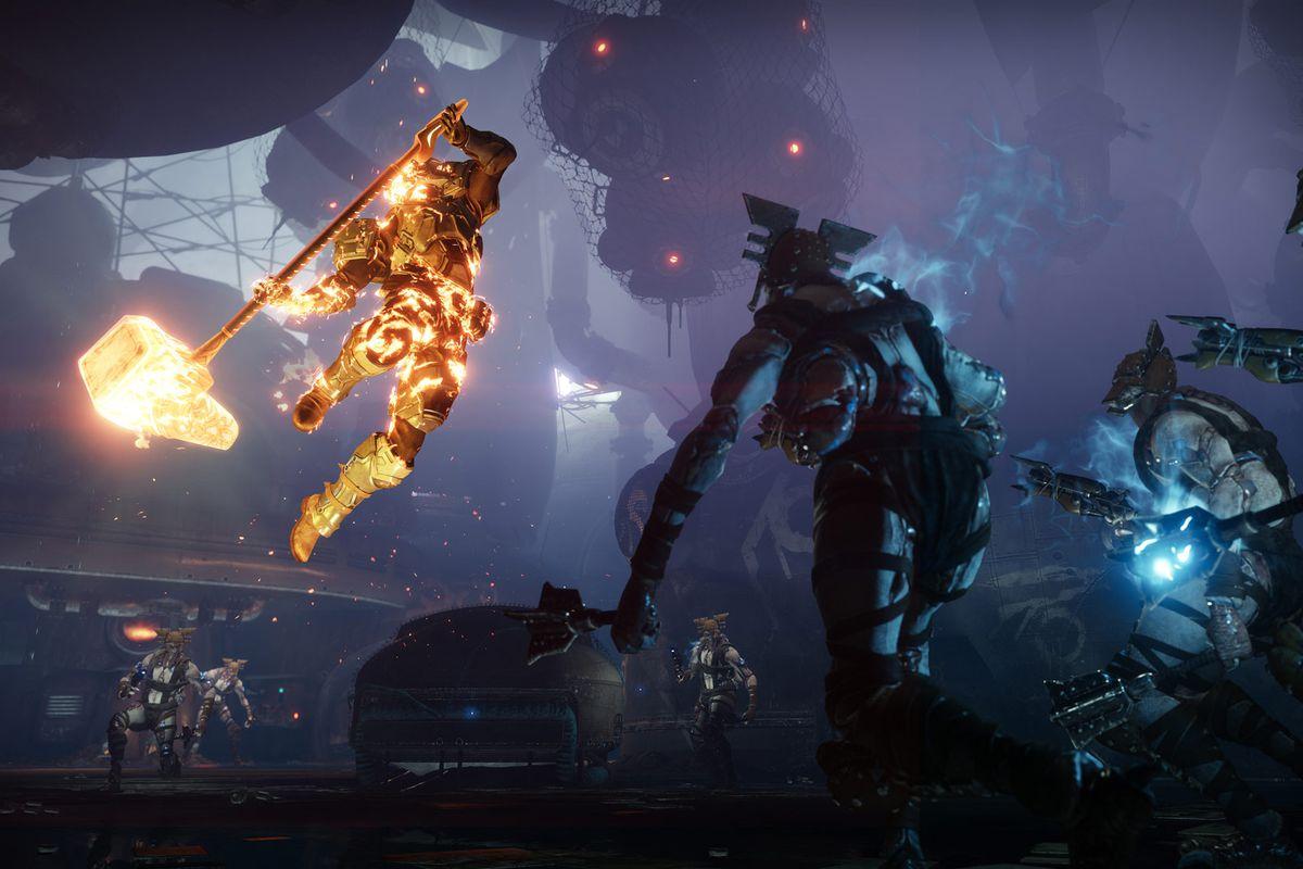 Destiny 2: Forsaken - Titan unleashing a super attack on enemies