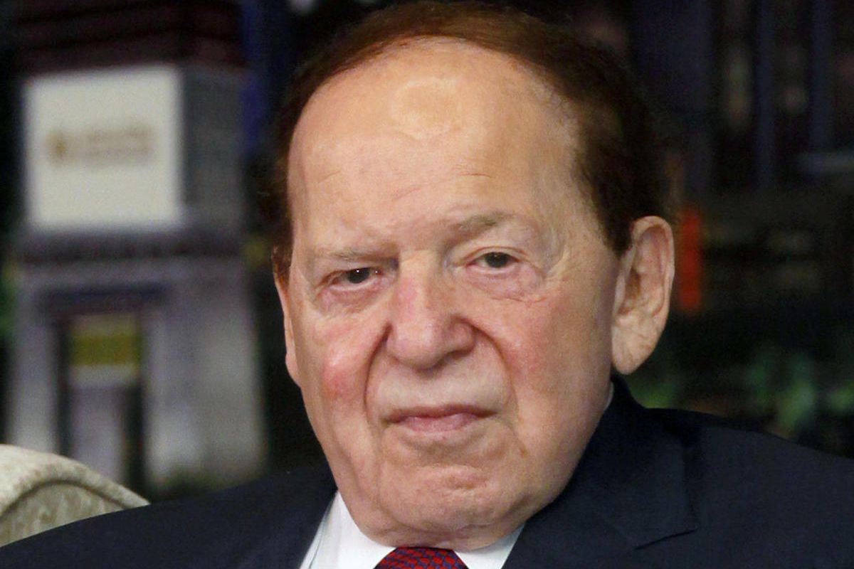 FILE - In this April 12, 2012 file photo, Las Vegas Sands Chairman and CEO Sheldon Adelson speaks at a news conference for the Sands Cotai Central in Macau. Casino giant Las Vegas Sands Corp. picked Madrid over Barcelona for a multi-billion dollar Spainis
